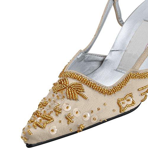 Kevin Fashion , Chaussures de mariage tendance femme - marron - marron, 43