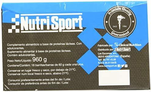 Nutrisport Low Carbs High Protein Coco - 16 Barritas de Proteínas, 960 g