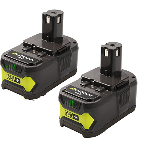 FUZADEL 2 Pack 18 volt Replacement Battery for Ryobi P122...
