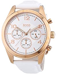 Rose Gold Leather Chronograph Ladies Watch 1502310