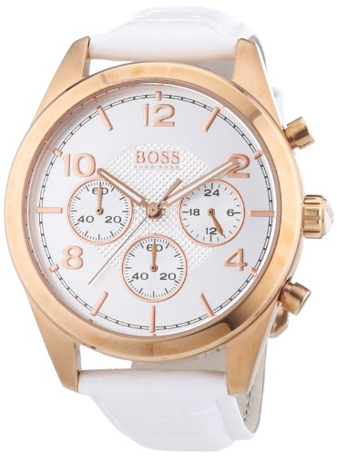 Hugo Boss Rose Gold Leather Chronograph Ladies Watch 1502310