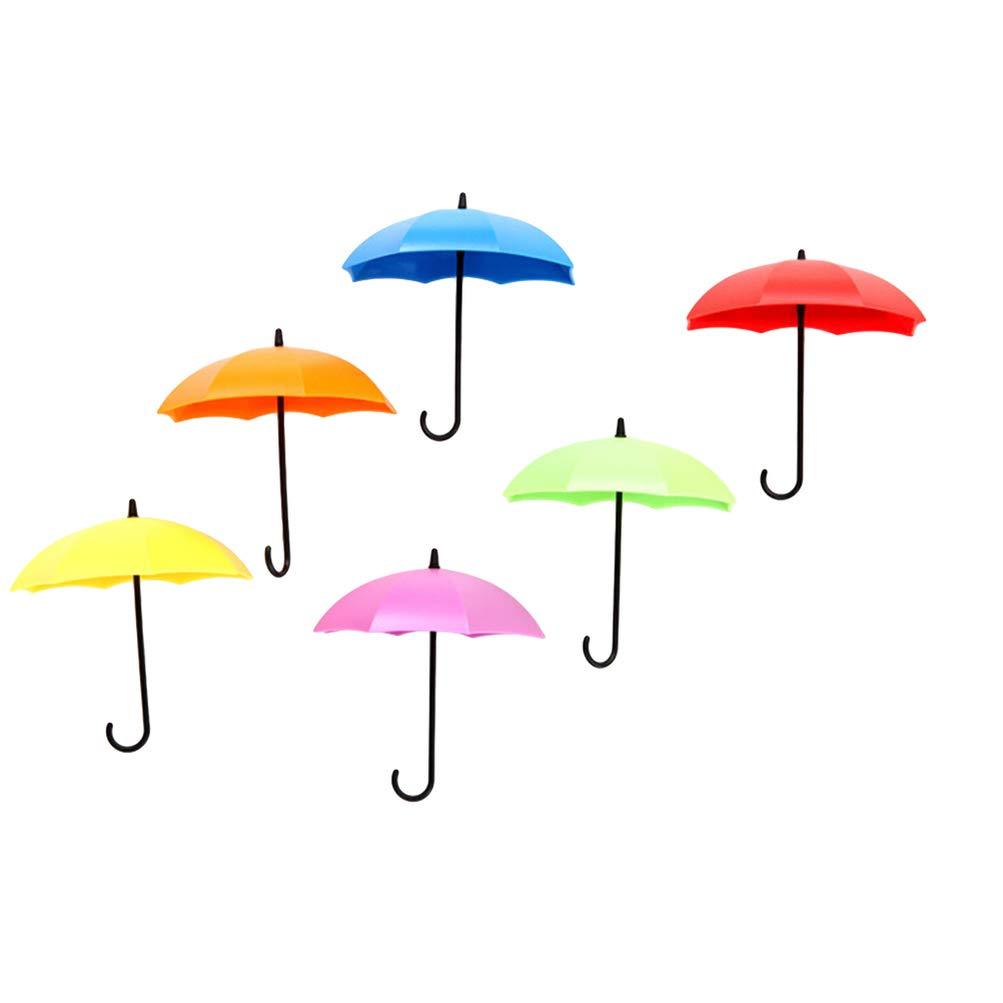 TOPBATHY 12Pcs Paraguas Colorido Titular de La Llave Titular de La Pared Estante Clave de La Pared Organizador Clave para Llaves Joyas Y Otros Art/ículos Peque/ños