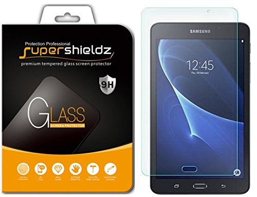 [2-Pack] Supershieldz for Samsung Galaxy Tab A 7.0 inch Screen Protector, [Tempered Glass] Anti-Scratch, Anti-Fingerprint, Bubble Free, Lifetime Replacement Warranty