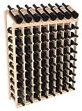 Wine Racks America Ponderosa Pine 8 Column 10 Row Display Top Kit. 13 Stains to Choose From!