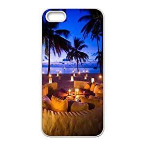 Customized Cover Case with Hard Shell Protection for Iphone 5,5S case with Beautiful Maldives lxa#470367
