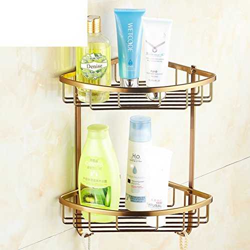 European Style Bathroom Shelves Space Aluminum Antique Basket Triangle Basket Bathroom Wall Two