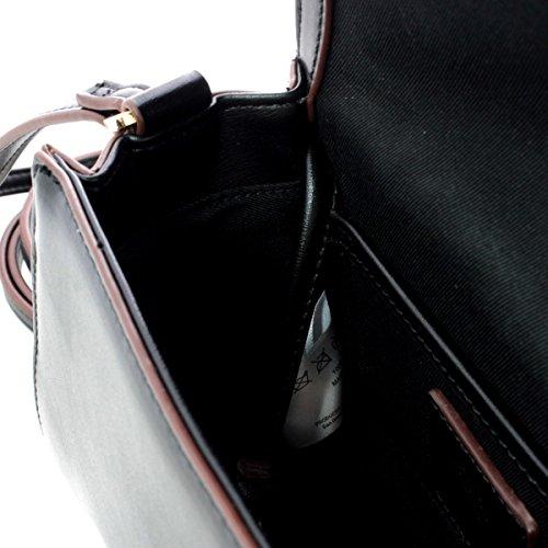 Borsa Tracolla Alessia in Ecopelle Liscia Nera AL06-E17001 - Pomikaki