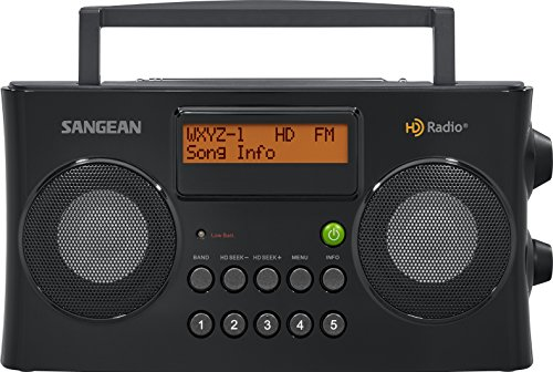 Sangean HDR-16 HD Radio/FM-Stereo/AM Portable Radio (Best Portable Am Fm Radio Reviews)