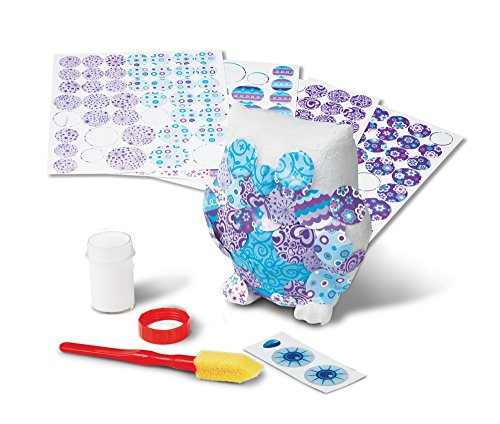Melissa & Doug Decoupage Made Easy Owl Paper Mache Craft Kit With Stickers ()