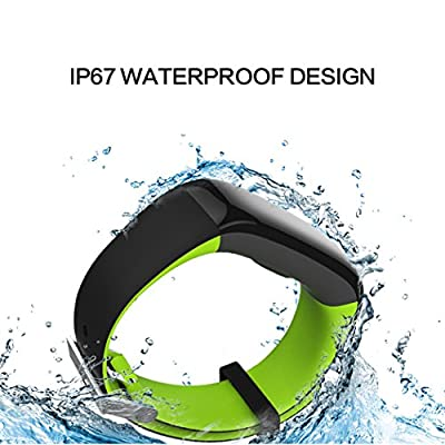 MSRM P1 Waterproof Smart Band Fitness Tracker with Heart Rate Monitor and Blood Pressure Sports Smart Bracelet Call/MSM Reminder Support Android 4.3 or above, IOS 8.0 or above