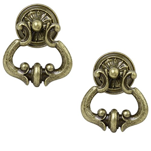 Tinksky Antique Cabinet Cupboard Wardrobe Drawer Knob Door Pull Handle - 1 Pair