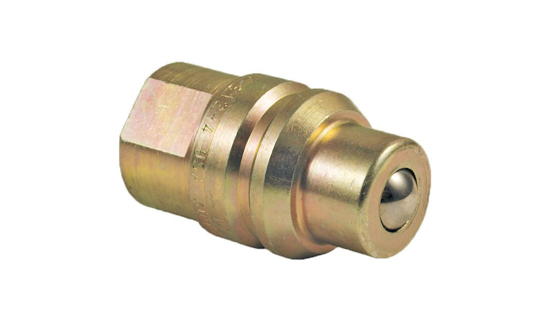 Apache 39041535 1/2'' International Harvester Old Style Male Tip x 7/8'' - 14 O-ring Boss Thread Hydraulic Quick Disconnect Adapter (S12-16)