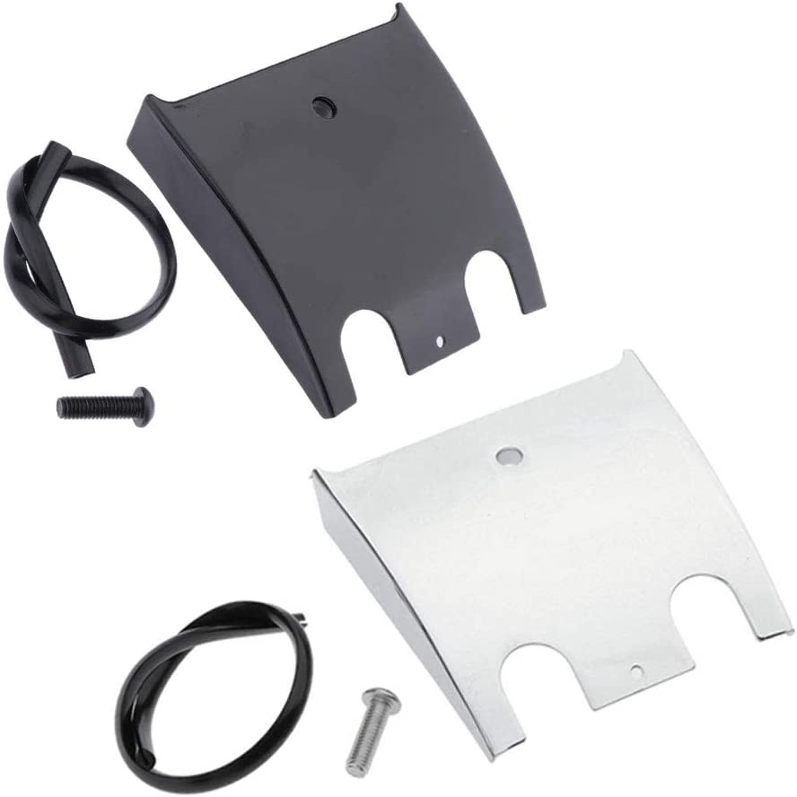 Black Gazechimp Dash Panel Extension Enlarger Extended Dashboard for Harley Touring 1990-2007 Black//Chrome