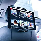 Car Tablet Headrest Mount, Lamicall Tablet Holder : Universal Cradle Stand Bracket compatible with 4.7~13 inch Tablets such as new iPad 2017 Pro 9.7, 10.5, Air mini 2 3 4, Accessories, Samsung Tab, Kindle Fire, E-reader, and other Tablets - Black