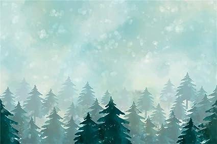 Christmas Backgrounds.Amazon Com Leyiyi 5x3ft Cartoon Winter Forest Backdrop