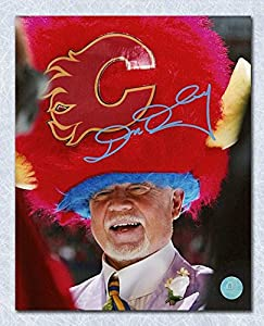 Autographed Don Cherry Photo - Calgary Flames Poofy Hat 8x10 - Autographed NHL Photos