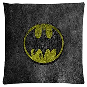 Batman ~ Unique Throw Square Pillow Case 18X18 inches Fashionable Diy Custom Personalized Pillowcase Design by Engood