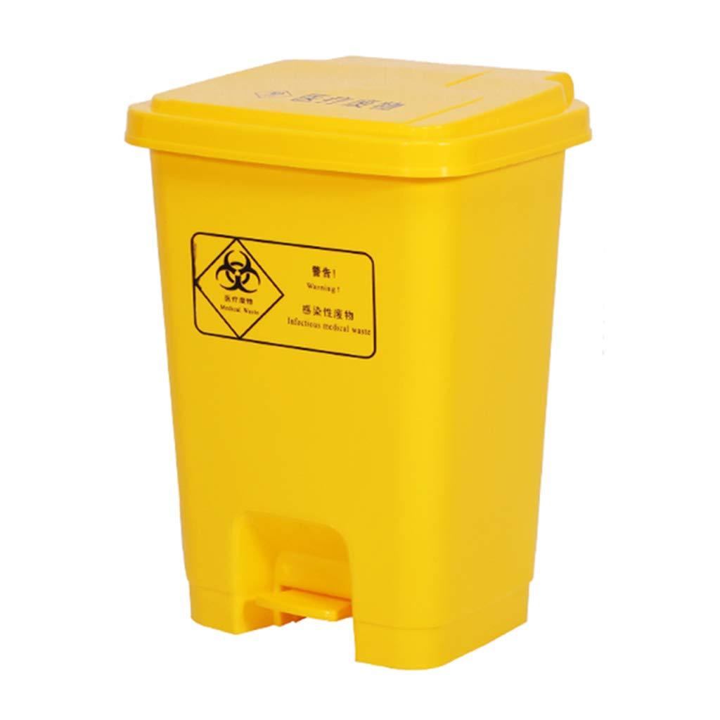 CSQ Plastic Trash Can, 15L / 20L / 30L / 40L / 50L / 60L Foot Storage Box, Hospital Hotel Kitchen Household Trash Can Indoor