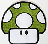 1up Patch Green Mushroom Embroidered Iron on Badge Applique Costume Cosplay Mario Kart / Snes / Mario World / Super Mario Brothers / Mario Allstars