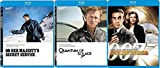 Three 007 Bonds Sean Connery Goldfinger James Bond Blu Ray + George Lazenby On Her Majesty's Secret Service + Quantum of Solace Daniel Craig Triple feature
