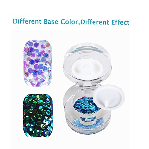 BTArtbox 1 Jars Holographic Rainbow Reflective Sparkle Glitter Dust Powder Paillette for Nail Manicure or Art-Crafiting,Home-decorating,ect(Diamand (Holo 2 Costumes)
