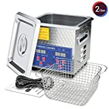 Ultrasonic Cleaner 200W Heating Power Parts Cleaner 2L for Carburetors Injectors Guns Bullets Brass and Jewelry Professional Ultrasonic Bath DAREFLOW Gifts for Men, Dad, Husband