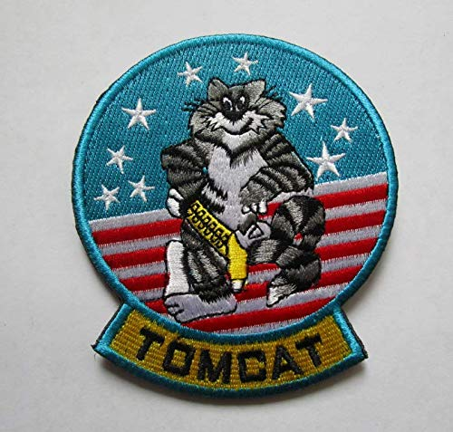 F-14 Tomcat Fighter Squadron Military Patch Fabric Embroidered Badges Patch Tactical Stickers for Clothes with Hook & Loop