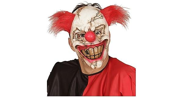 Amakando Careta payasito psicótico Máscara de Terror Payaso Mascarilla Terror IT Complemento para Disfraz de Miedo Antifaz Halloween bufón Máscara ...