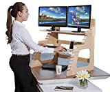 Double Monitor Standing Desk | Converts Any Desk to a Stand Up Desk in 60 Seconds | Helps Relieve Back Pain | Intended For Standing (Not Sit to Stand) | Fits Dual Monitors | Suits People 5' to 6' 3