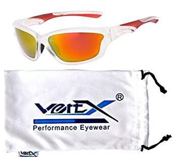 VertX Men's Polarised Sunglasses Sport Cycling Running Outdoor 5007pol-Whtblu/blu