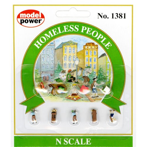 (Model Power - Pedestrians -- Homeless People - N)
