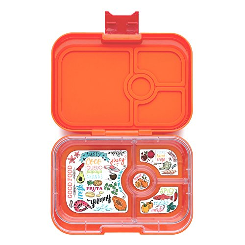 yumbox papaya orange leakproof bento lunch box container. Black Bedroom Furniture Sets. Home Design Ideas