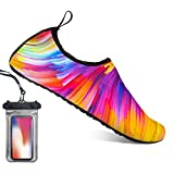 Bopika Barefoot Shoes Water Sports Shoes Quick-Dry Aqua Yoga Socks for Women Men Kids (L: (Women:9.5-10.5/Men:7.5-8), QC)