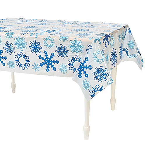 Fun Express - Snowflake Tablecover for Christmas -