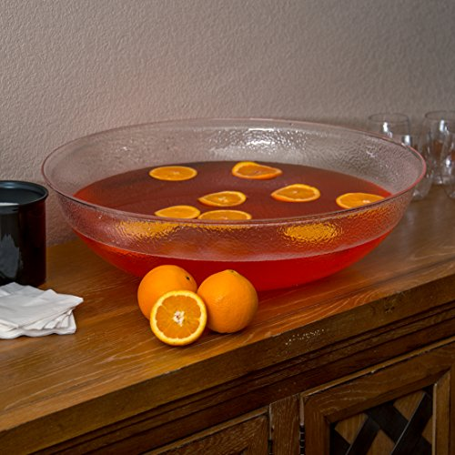 Carlisle SP2207 Acrylic Pebbled Punch Bowl, 24-qt. Capacity, 22'' Diameter x 11.12'' Height, Clear by Carlisle (Image #5)