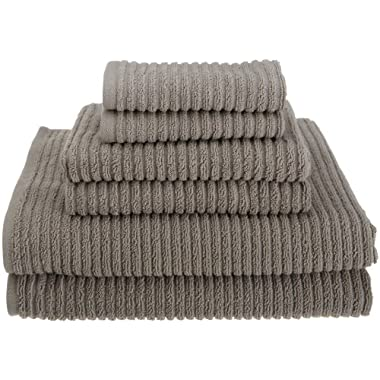 Kassatex 100-Percent Combed Extra Long Staple Turkish Cotton from our Urbane Collection 6-Piece Solid Towel Set, Graphite