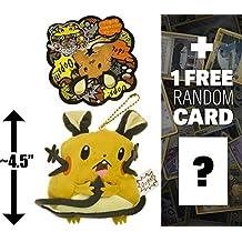 "Dedenne: ~4.5"" Pokemon Center Japan ""Oops!!"" Mini-Plush Keychain + 1 FREE Pokemon Trading Card Bundle"
