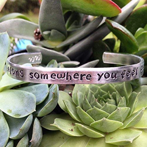 You belong somewhere you feel free-quote bracelet ()