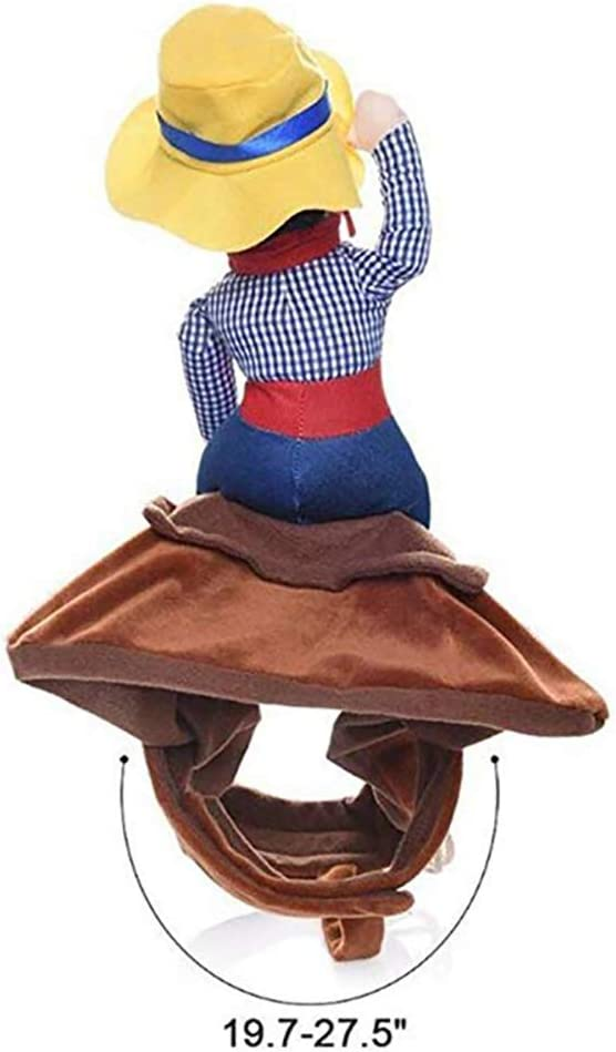 Aoile Pet Costume Cowboy Rider Dog Costume for Dogs Outfit Knight Style with Doll and Hat for Halloween XL