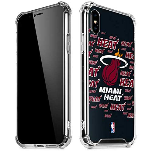 (Skinit Miami Heat Blast iPhone Xs Max Clear Case - Officially Licensed NBA Phone Case Clear - Transparent iPhone Xs Max Cover)