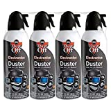 Falcon Dust-Off Electronics Compressed Gas Duster 10 oz (4 Pack) [New Improved Version]