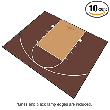 Outdoor Basketball Half Court Kit 30ft X 25ft  Lines And Edges  Included Made In