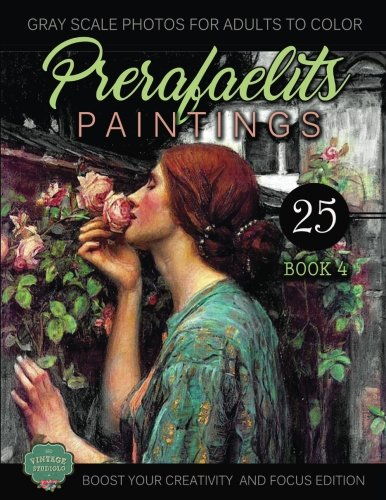 Download PreRafaelits Paintings: Coloring Book for Adults, Book 4, Boost Your Creativity (Volume 4) PDF