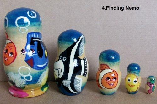 Finding Nemo * Russian Nesting Doll * 5 pcs / 4 in