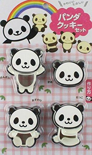 Vikenner Ausstechformen Panda Ausstecher aus Kunststoff für Keks Fondant 3D Plätzchen Plätzchenformen Backen Küche