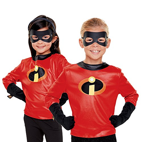 The Incredibles 2 Incredibles Dress up Set-Shirt with Logo, Gloves & Eye Mask