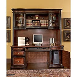 Coaster Company Cherry and Black Credenza Executive Desk