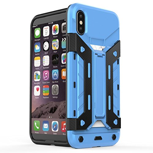 360 Degree Dual Pro Protective Case for Apple iPhone 6 Plus (Blue) - 8