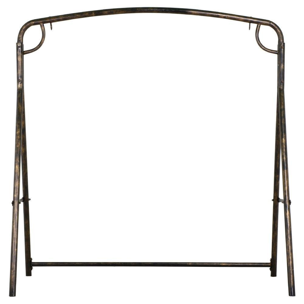 Yaheetech Iron A Frame Porch Swing Stand Bronze Finish,Capacity: 441 Lb