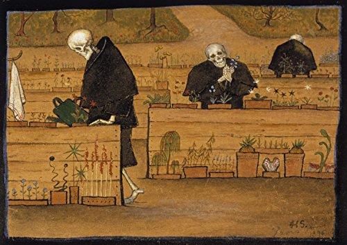 Hugo Simberg: The Garden of Death. Fine Art Print/Poster (84.1cm x 59.4cm)